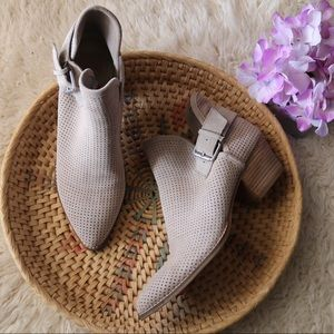 Dolce Vita Sam Taupe Perforated Ankle Boots